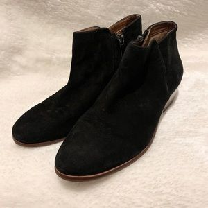 Sam Edelman Leather Black Booties